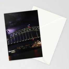 Lightning over Sydney Harbour, Lavender Bay, NSW Stationery Cards