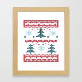 Ugly Christmas Framed Art Print