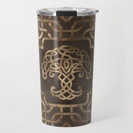 Tree of life -Yggdrasil on Celtic Pattern Travel Mug