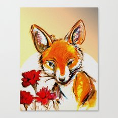Fox in Sunset Canvas Print