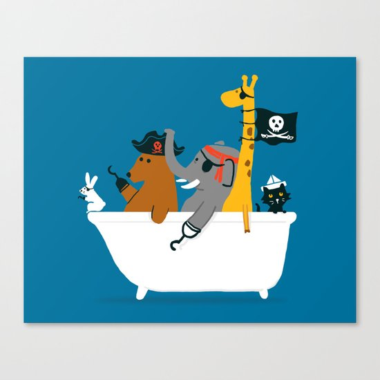 Everybody wants to be the pirate Canvas Print