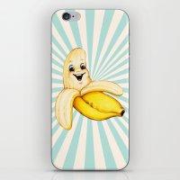 banana iPhone & iPod Skins featuring Banana by Kelly Gilleran