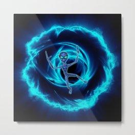 Black Hole Alien Metal Print