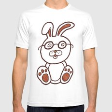 Wannabe Urban Rabbit Mens Fitted Tee SMALL White