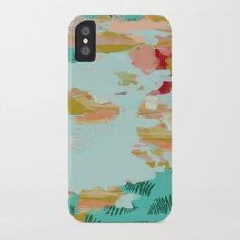 Seafoam Fern Collage iPhone Case