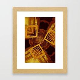 Collegiate Corridors Framed Art Print