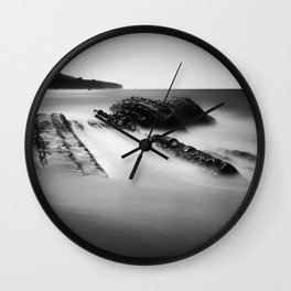 Uncovered Bowling Ball Beach Mendocino coast Wall Clock