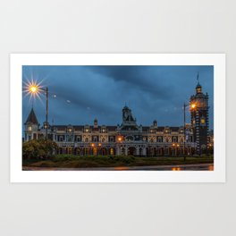 Dunedin Railway Station, New Zealand Art Print