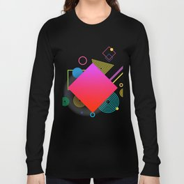 Displaced Geometry Long Sleeve T-shirt