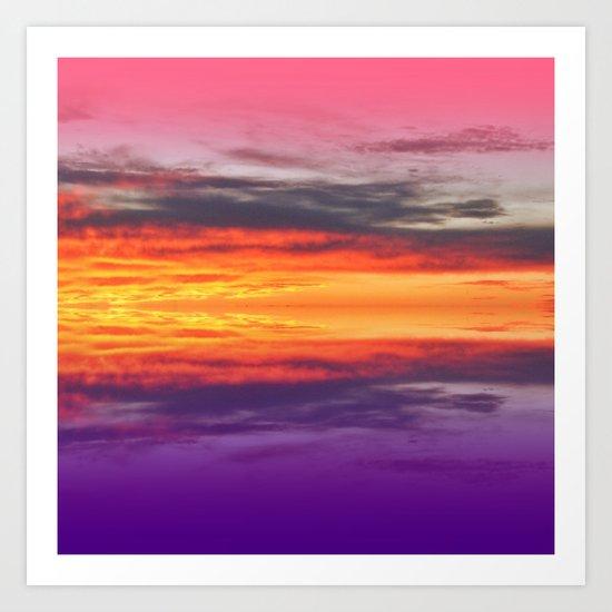 Vibrant Sunset Art Print