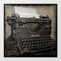 typewriter Canvas Prints featuring typewriter by planejane