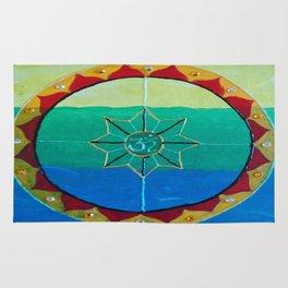 Chakra Mandala - Solar Plexus, Heart Charka & Throat Chakra  Rug
