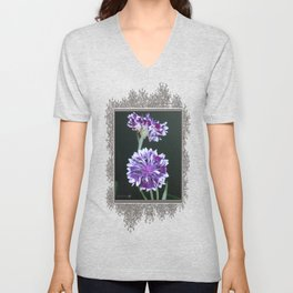 Bachelor Button from the Frosted Queen Mix Unisex V-Neck