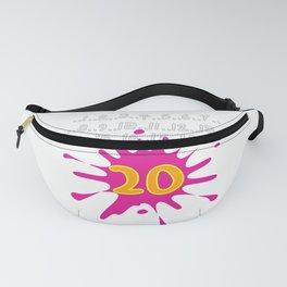 20th Birthday Bday Wedding Anniversary Gift Idea Fanny Pack