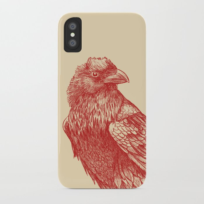 Red Raven  iPhone Case