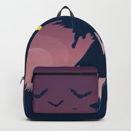 Halloween Scene Scarecrow Backpack