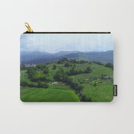 The Greenest Hill in Umbria Italy - Aerial Carry-All Pouch