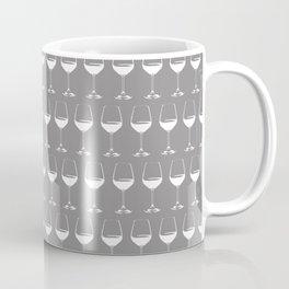 Wine Glasses on Grey Coffee Mug