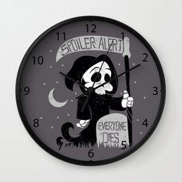 Cute cartoon grim reaper with scythe  Wall Clock