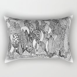 Mysterious Village Rectangular Pillow