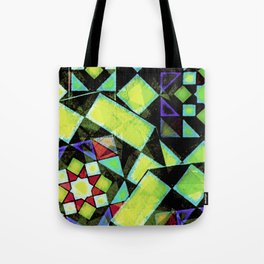 Green Shapes Geometric Tote Bag
