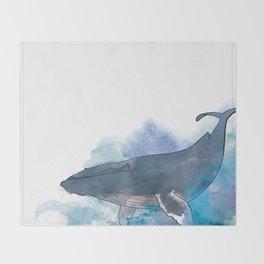 humpback whale Throw Blanket
