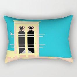 Wind-towers of Bastakiya by Dubai Doodles 002 Rectangular Pillow