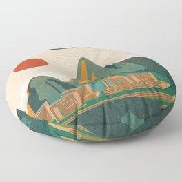 Peru travel poster Floor Pillow