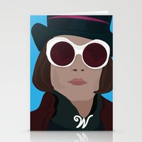willy wonka Stationery Cards featuring willy wonka by Mariana Andrea