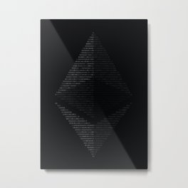 Ethereum Binary Metal Print