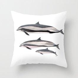 Fraser´s dolphin Throw Pillow