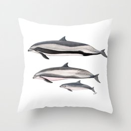 Fraser´s dolphin Throw Pillow