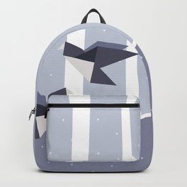 Elegant Origami Birds Abstract Winter Design Backpack