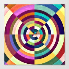 Playing Darts with Colours Canvas Print