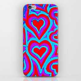Funky Abstract Zendoodle Hearts iPhone Skin