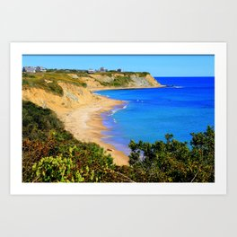 Block Island, Rhode Island Cliffs and Beaches Art Print