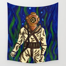 Diving Suit Wall Tapestry