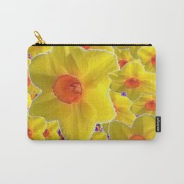 YELLOW-GOLD DAFFODILS FLOWER COLLAGE Carry-All Pouch