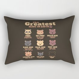 Greatest Bears Insert your Bear Rectangular Pillow