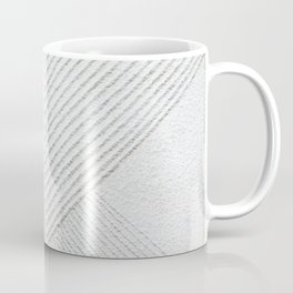 White Geometric Abstaction Coffee Mug