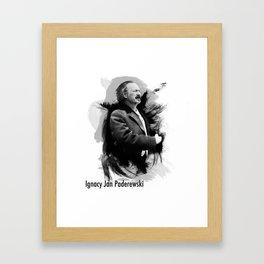 Ignacy Jan Paderewski - Polish Prime Minister, Polish Pianist Framed Art Print