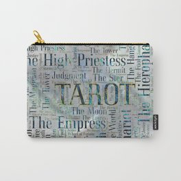 Tarot Major Arcana Word Art  on Pearl Carry-All Pouch
