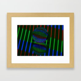 Red,Green, blue in the crystal ball. Framed Art Print