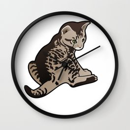 Sad Kitty Wall Clock