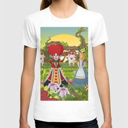 fantasy girl with red queen T-shirt