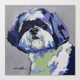 Shih Tzu Pop Art Pet Portrait Canvas Print