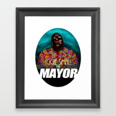 Biggie Smalls for Mayor Framed Art Print