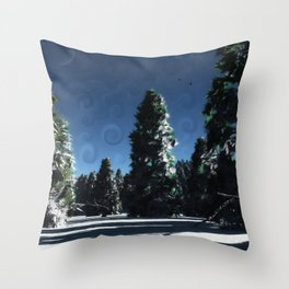 Cold andCrisp Throw Pillow