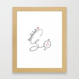 Knuckleball Framed Art Print