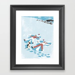 Snow Angels Framed Art Print